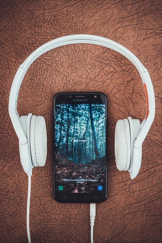 asmr science headphones and mobile